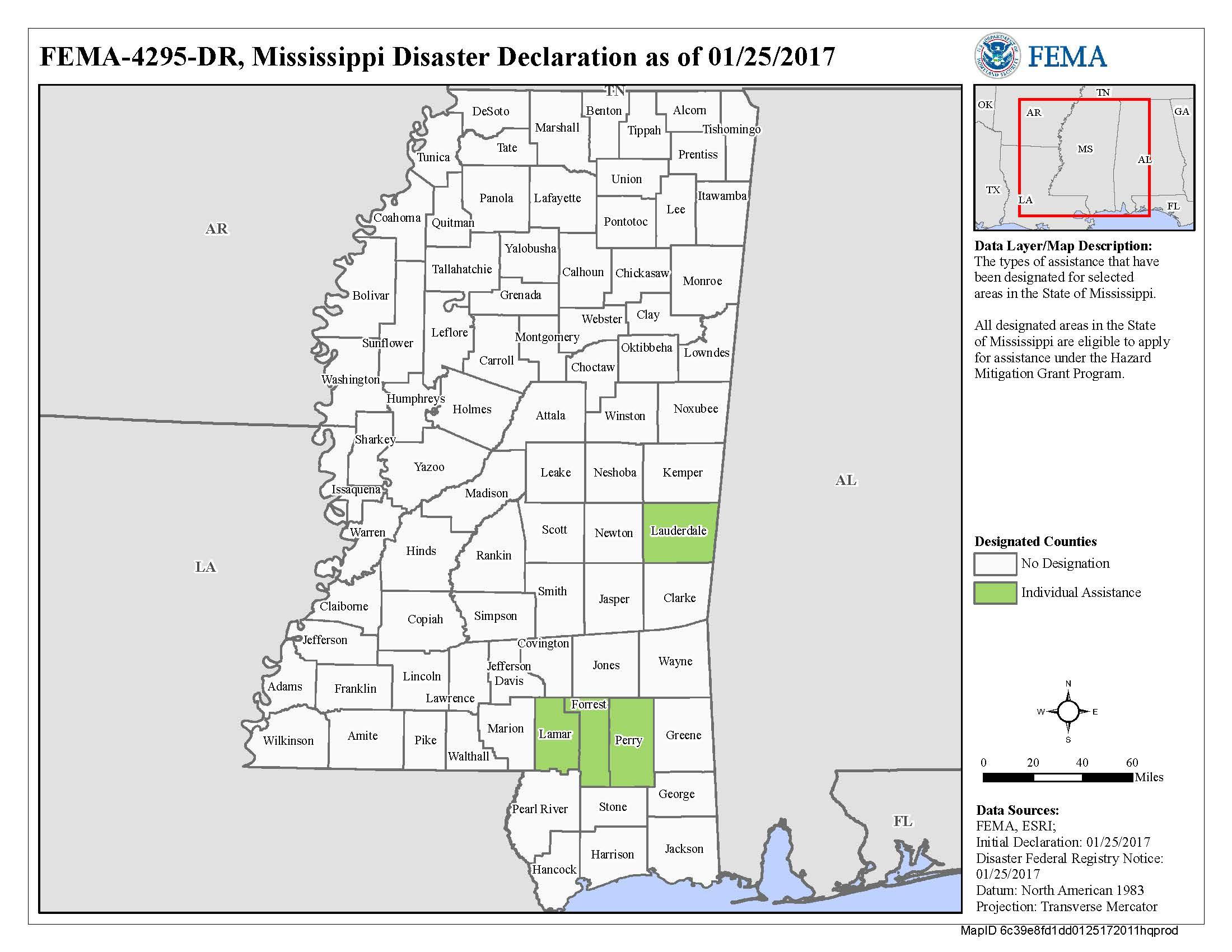 Disaster Map - Hattiesburg Area Development Partnership